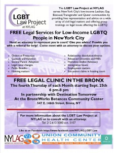 Free Legal Services for Low-Income LGBTQ People in NYC