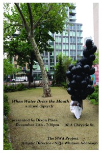 When Water Dries the Mouth - One Night Only @ Dixon Place  | New York | New York | United States