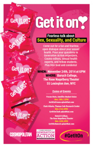 Get It On! Fearless Talk About Sex, Sexuality, and Culture @ Baruch College    New York   New York   United States